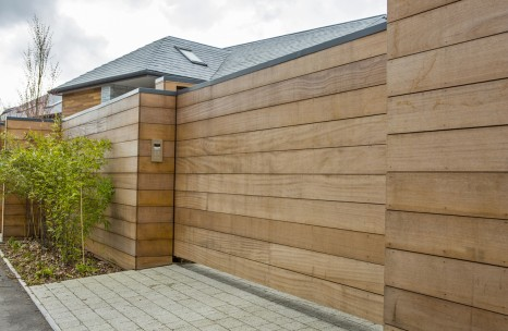 Cantilever timber clad gate