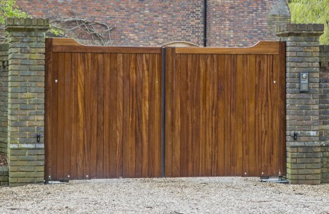 Hardwood swing gates
