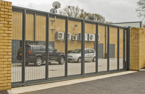 Industrial sliding steel gate