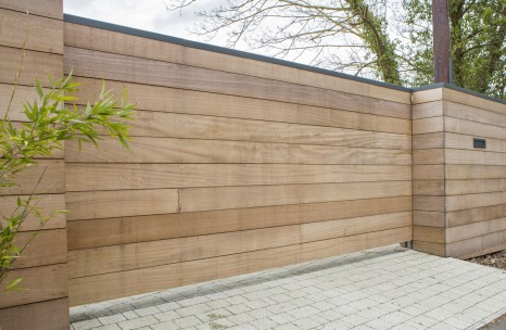 Wooden clad cantilever gate